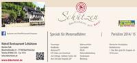 Bikerhotel Preisliste